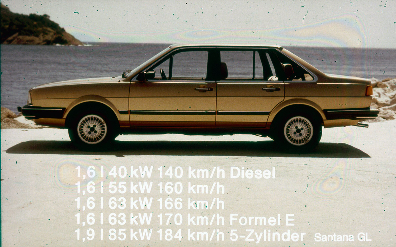 Volkswagen Santana, komoly motorválasztékkal, ma már röhejesnek mondható teljesítménnyel