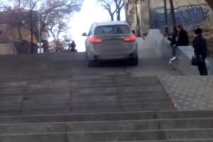 Ez a BMW-tulaj a lépcsőzés mellett döntött