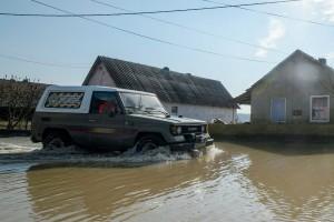 Utakat zártak le árvíz miatt Borsodban - fotók