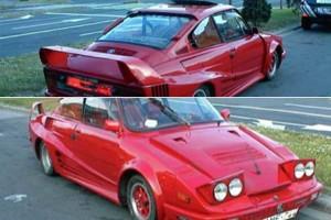 Škodából faragott Ferrari kétmilláért eladó