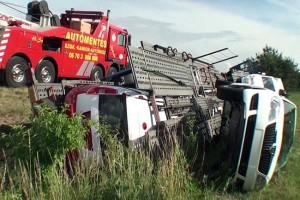 Leborult egy autószállító rakománya az M5-ösön