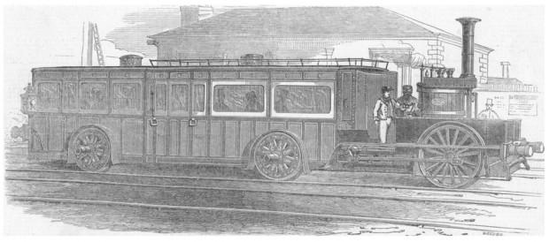 Az első motoros kocsi, a Fairfield, 1848-ból