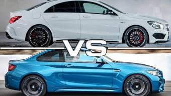BMW M2 a Mercedes-AMG CLA 45 ellen pályán, melyik a gyorsabb?