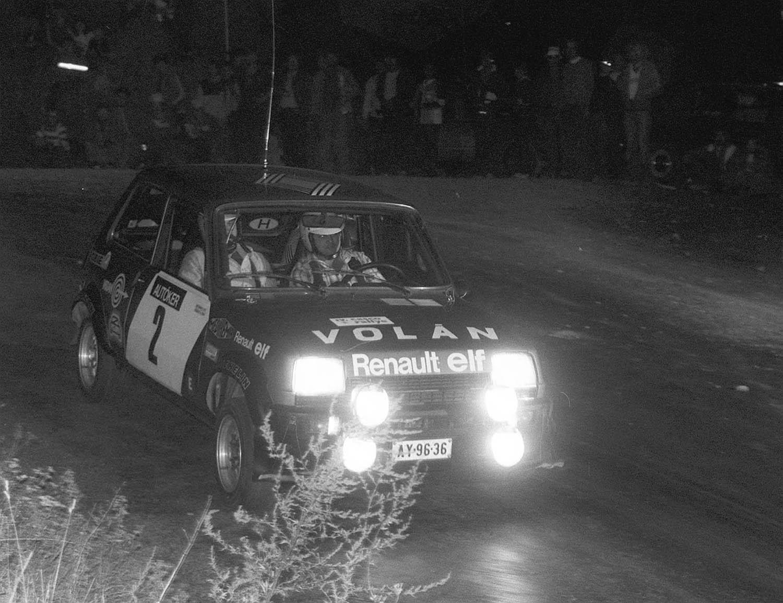 Bajna, 1982 A Ferjáncz-Tandari páros verseny közben a IV. Casco-rali Bajna-Lábatlan gyorsasági szakaszán. MTI Fotó: Németh Ferenc