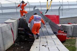 F1: Sainz balesete miatt építették át az orosz pályát