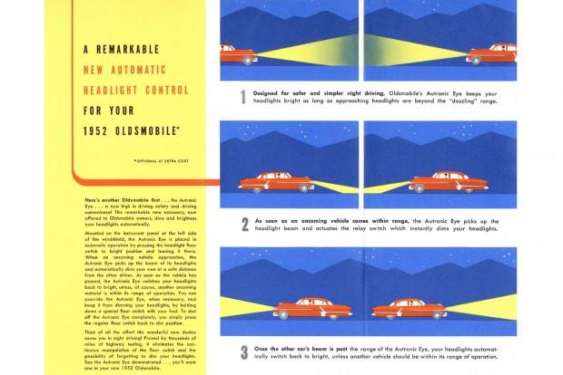Gyári extraként az 1952-es Oldsmobile-okon