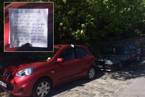 Cetlivel üzent egy dühös autós a másiknak