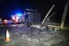 Porrá égett egy kamion az M5-ösön – fotók