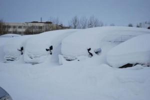 A hely, ahol az autókat méteres hó fedi