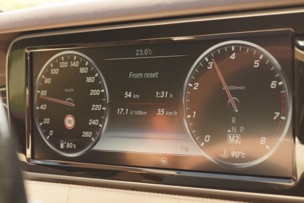 A 4,7 literes S500 fogyasztása