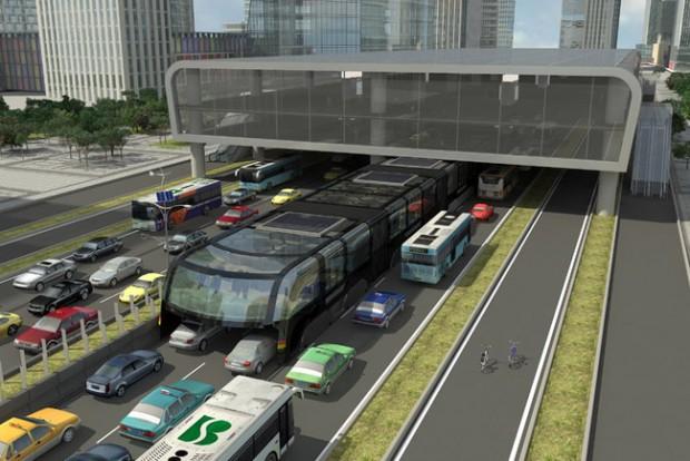 Jövőre kezdődik az autónyelő óriásbusz tesztje