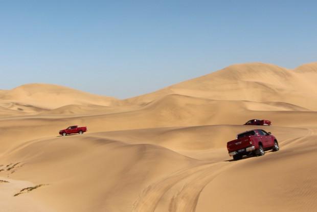 A megfelelően beállított keréknyomás ( lengedett abroncs) elengedhetetlen, hogy a homoksivatagban boldoguljunk