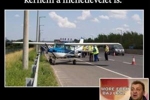 A Facebook rárepült az M1-M7-esen landolt gépre