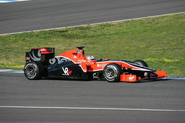Rövid epizód az F1-ben: a Virgin Racing autója 2010-ből