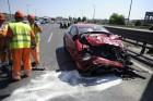 Három autó ütközött az M1-esen