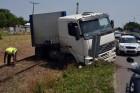 A sínen állt meg az elszabadult kamion Szegeden