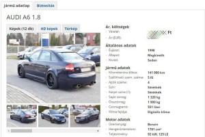 Lóképű Audi eladó, pici ízlésficammal