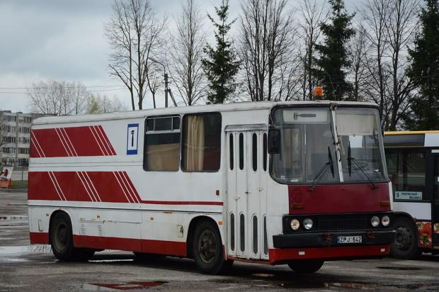 Litvániában található ez az 1982-ben épített Ikarus, mely eredetileg csuklós (280) buszként szállított utasokat. Később egyszerűen szóló szervizbuszt készítettek belőle.