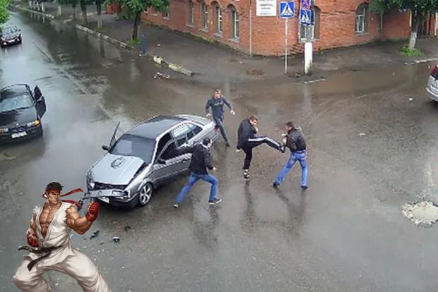Utcai harcba torkollott a baleset