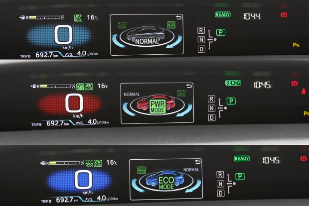 Különféle színek a különféle vezetési stílusokhoz