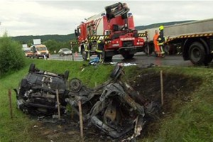 Brutális osztrák baleset, magyar áldozattal - Fotó