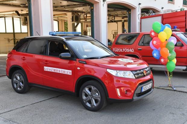 Tűzoltóautó lett a magyar Suzukiból