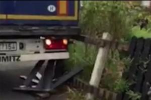 Videóra vették a magyar kamionos nő bakiját