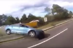 Katasztrofális hibát követett el egy nő az autópályán