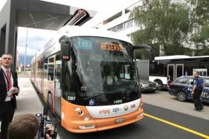 15 másodperc alatt töltik majd a buszokat Svájcban