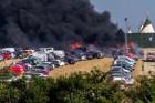 Tűz pusztított a zenei fesztivál parkolójában