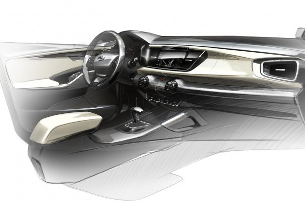4th Generation Kia Rio_Interior Rendering