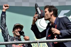 F1: Webbernek nem ízlett a cipős pezsgő