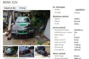 Eladó BMW: driftre készült, falunap lett belőle