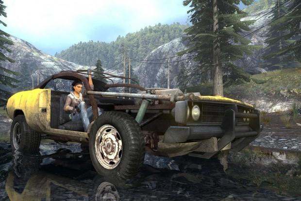 Hidat ugratni, kerítéseken áttörni, erre való az egykor sárga roncs a Half Life 2-ben