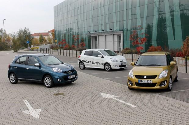 A Micra, a Swift és a Mitsubishi i elérhető hárommilliós forintért, légkondiconálással, de nem ilyen gazdag felszereltséggel