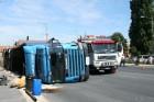 Videón a mosonmagyaróvári kamionbaleset