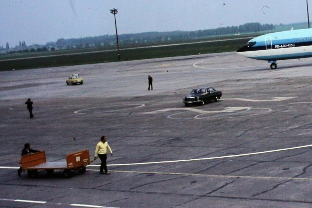 Wartburg és Mohammad Reza Pahlavi iráni sah Boeing 707 típusú repülőgépe