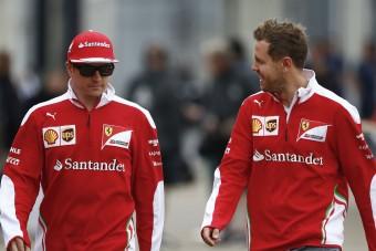 Így lepte meg Räikkönen a szülinapos Vettelt – videó