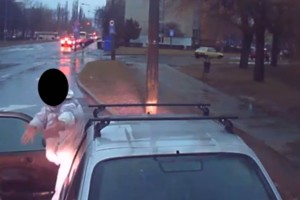 Buszsofőrrel hőbörgött a bunkó autós Győrben