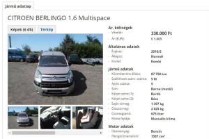 """""""Némileg megviselt"""" Citroën eladó – Így is lehet mondani…"""