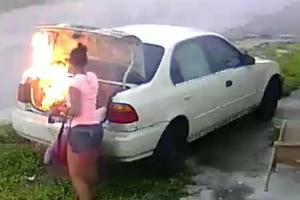 Felgyújtotta ex-pasija kocsiját, egy apró hibával
