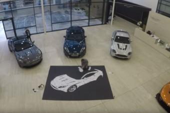 Papírból készült Aston Martin