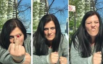 Motorháztetőn dobolt a fanatikus tekintetű nő, mert elfoglalták parkolóhelyét