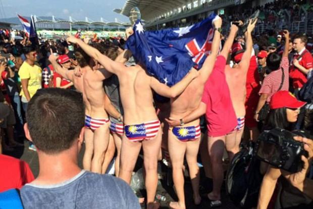 Meztelenkedő F1-szurkolókat tartóztattak le