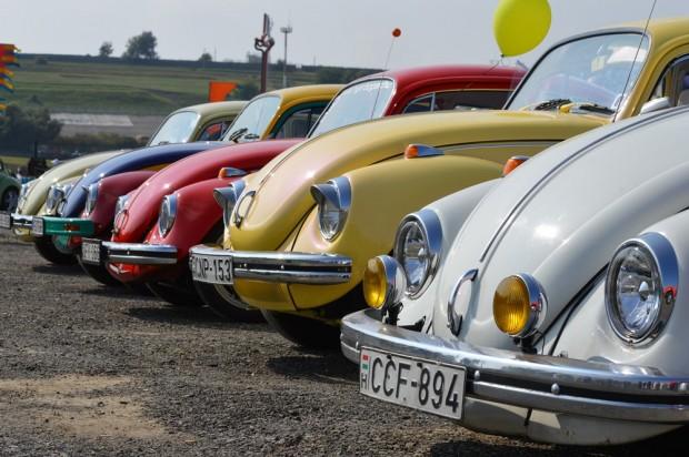 Idén szép számmal képviseltették magukat a VW Bogár tulajdonosok.