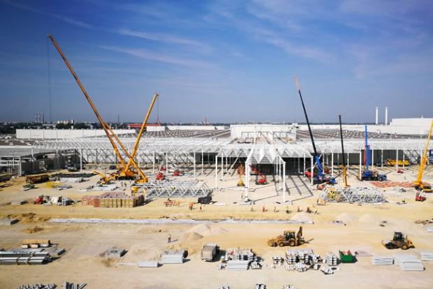 Így épül az Audi új győri gyára