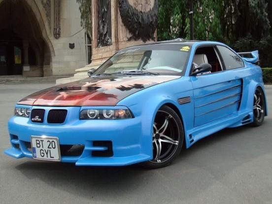 Bizonyára a szélcsatornában született ez az E36-os BMW.
