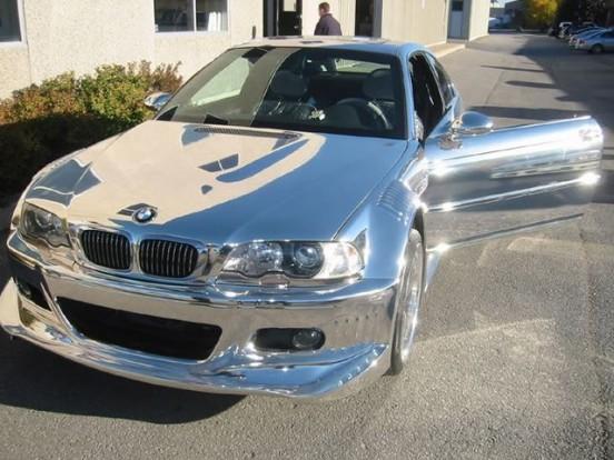 Elfajzott GTR karosszériás króm BMW E46 fájdalmas látvány.