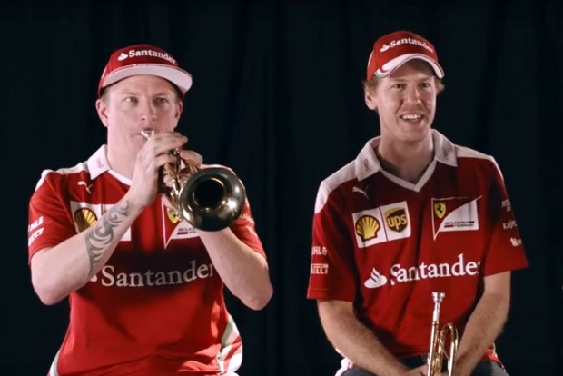 F1: Räikkönen már trombitán is veri Vettelt – videó