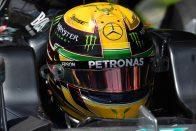 F1: A melegre panaszkodtak Hamiltonék